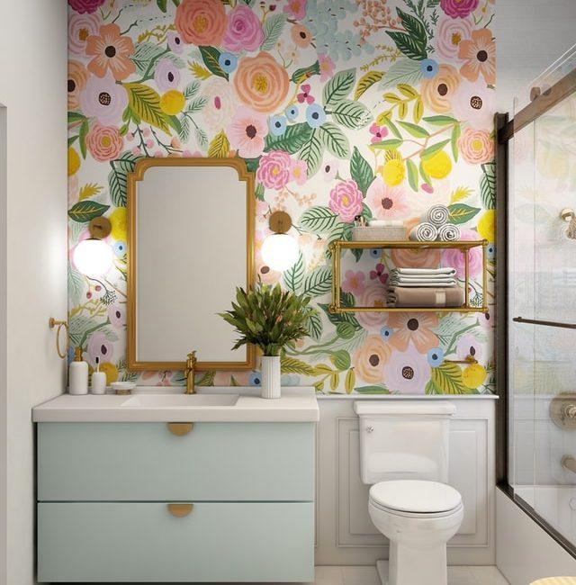 Quel papier peint pour la salle de bain?
